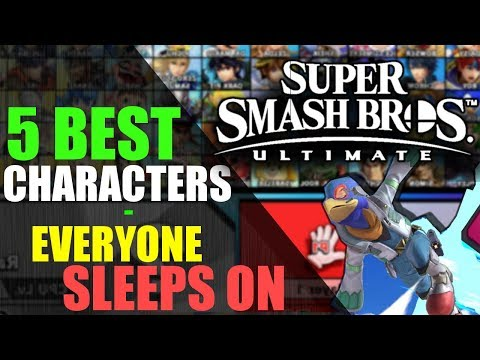 5 BEST Characters that EVERYONE is Sleeping on | Super Smash Bros. Ultimate thumbnail