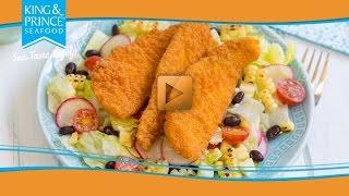 Southern Fried Flounder Salad