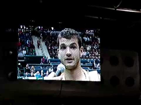 Dimitrov on court interview after beating Berdych (ABN Amro Rotterdam 2009)