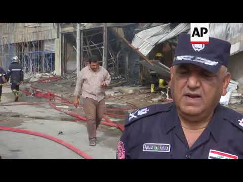 Fire destroys several warehouses in Baghdad