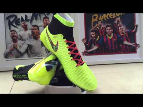 Nike Magista Obra FG Volt Noir Rouge Pas Cher Nouvelle