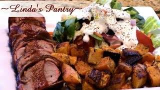 ~ Smoked Bacon Wrapped Pork Tenderloin With Linda's Pantry~