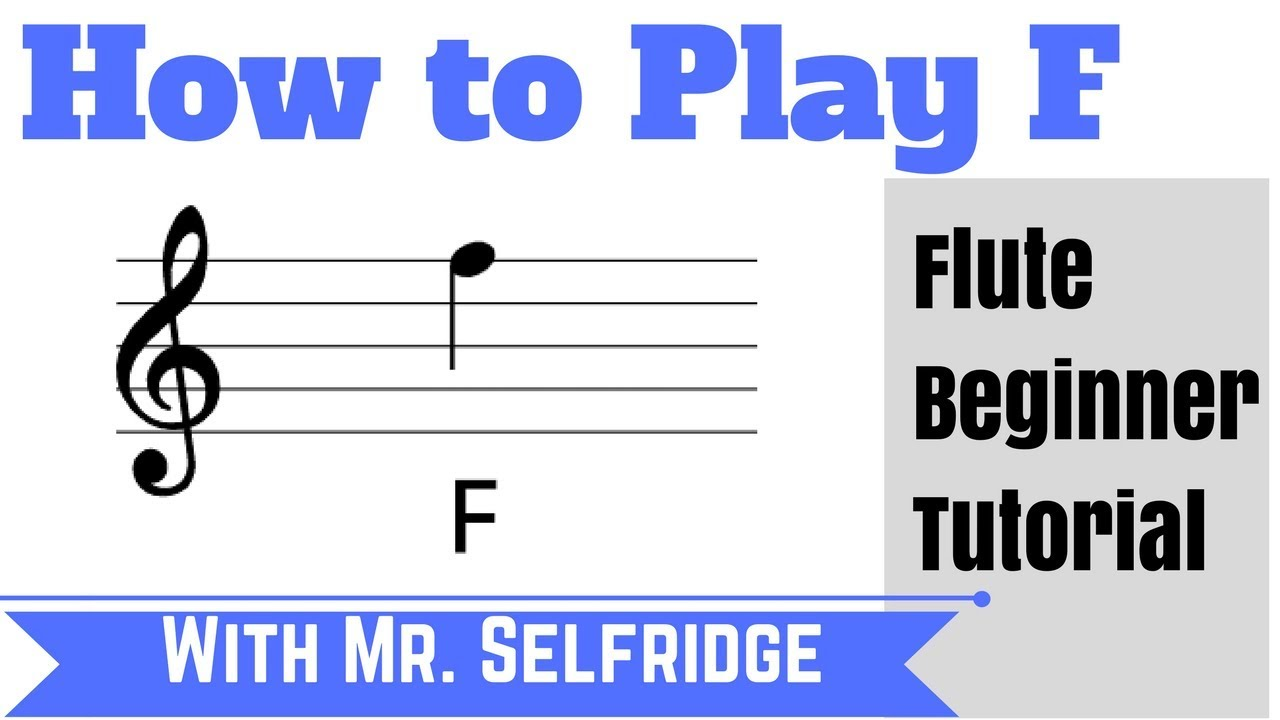 Flute - How to Play F (with Free App fingercharts.com)