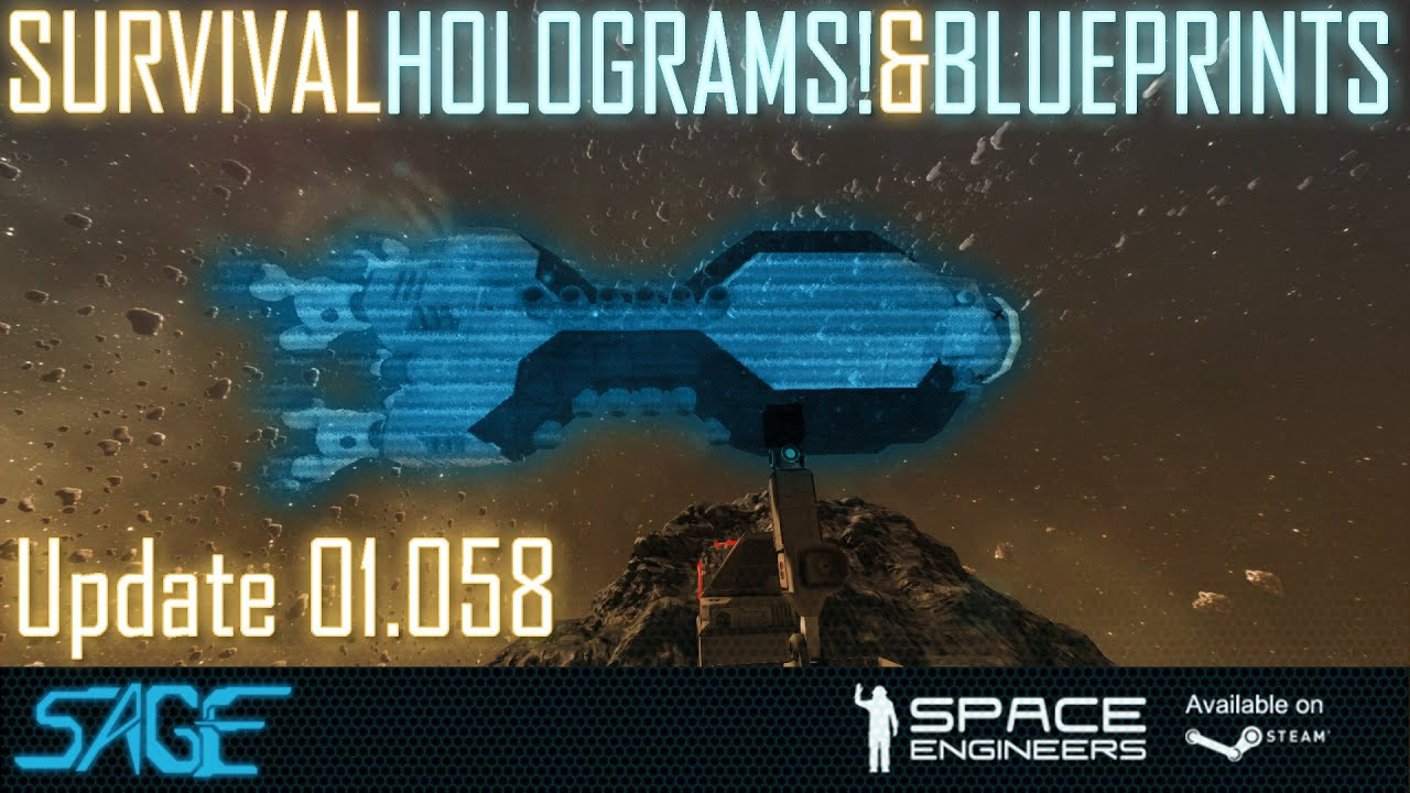 Space Engineers, Survival Blueprints / Holograms - YouTube