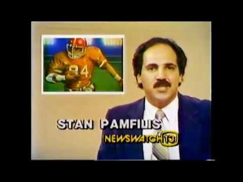 1982 WLOS Coverage by Stan Pamfilis of Brevard winning State 3A Football Championship Game