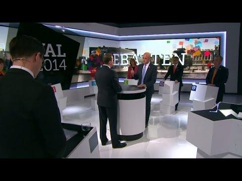 Fredrik Reinfeldt mot Stefan Löfven - Nyheterna (TV4)