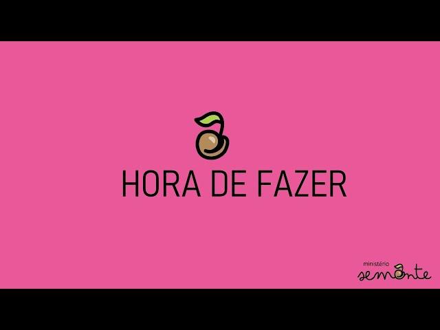 HORA DE FAZER - PARÁBOLA CASA NA ROCHA