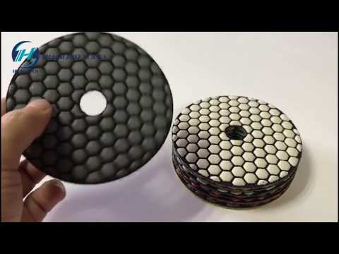 HIGH-TECH Dry Polishing Pad For Marble,Marble Honeycomb Diamond Dry Polishing Pad