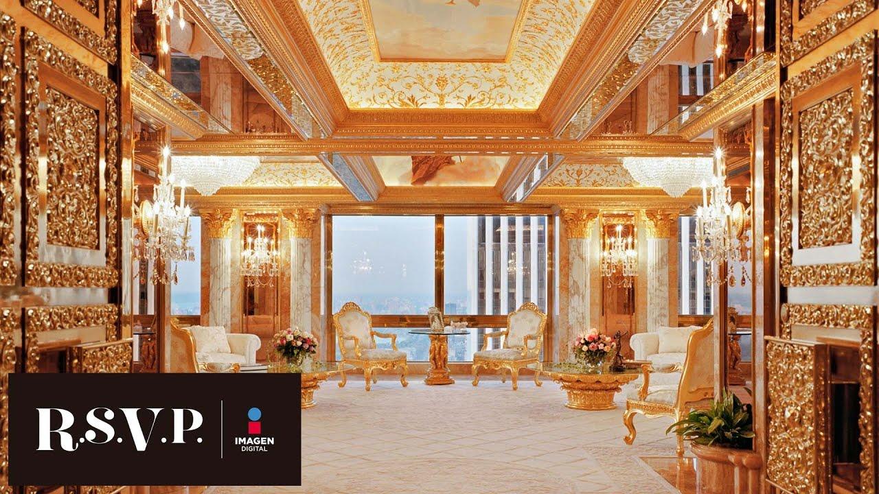 El Lujoso Penthouse De Donald Trump Rsvp Youtube