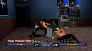 WCW Backstage Assault Gameplay Hardcore Challenge Mode (PlayStation,PSX,PS1)