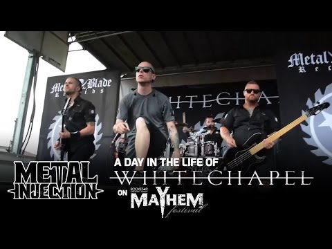 WHITECHAPEL: A Day In The Life On MAYHEM FEST | Metal Injection