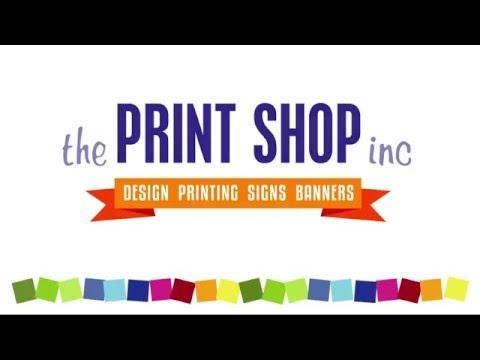 The Print Shop In Panama City Beach New Logo Reveal (850) 234-8284