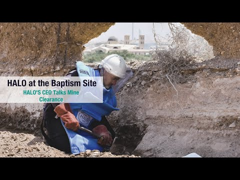 HALO CEO on clearing mines at the Baptism Site of Christ