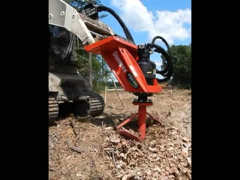 Fecon Stumpex Stump Grinder Attachment For Skid Steers Youtube