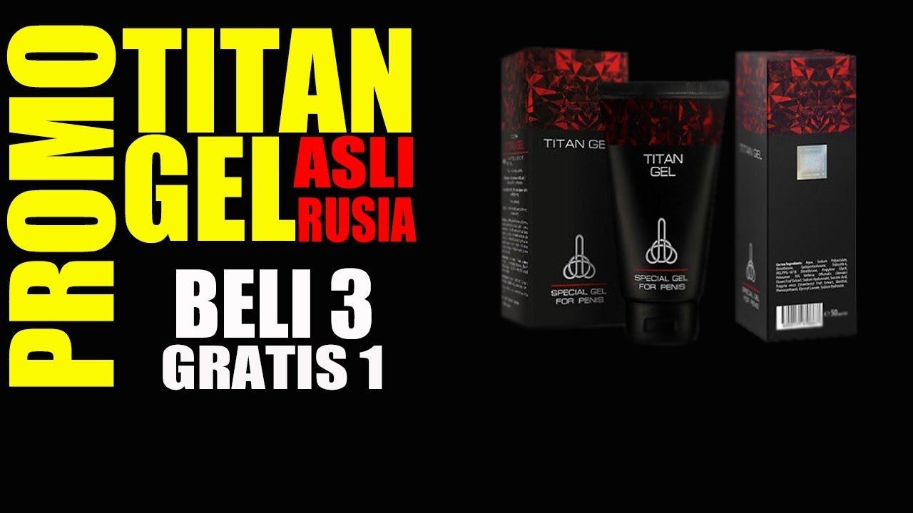 Promo TITAN GEL ASLI RUSIA Beli 3 Gratis 1