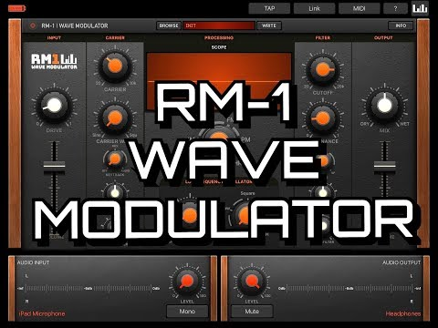 RM-1 Wave Modulator by Kai Aras - AUv3 or Standalone - Demo for the iPad