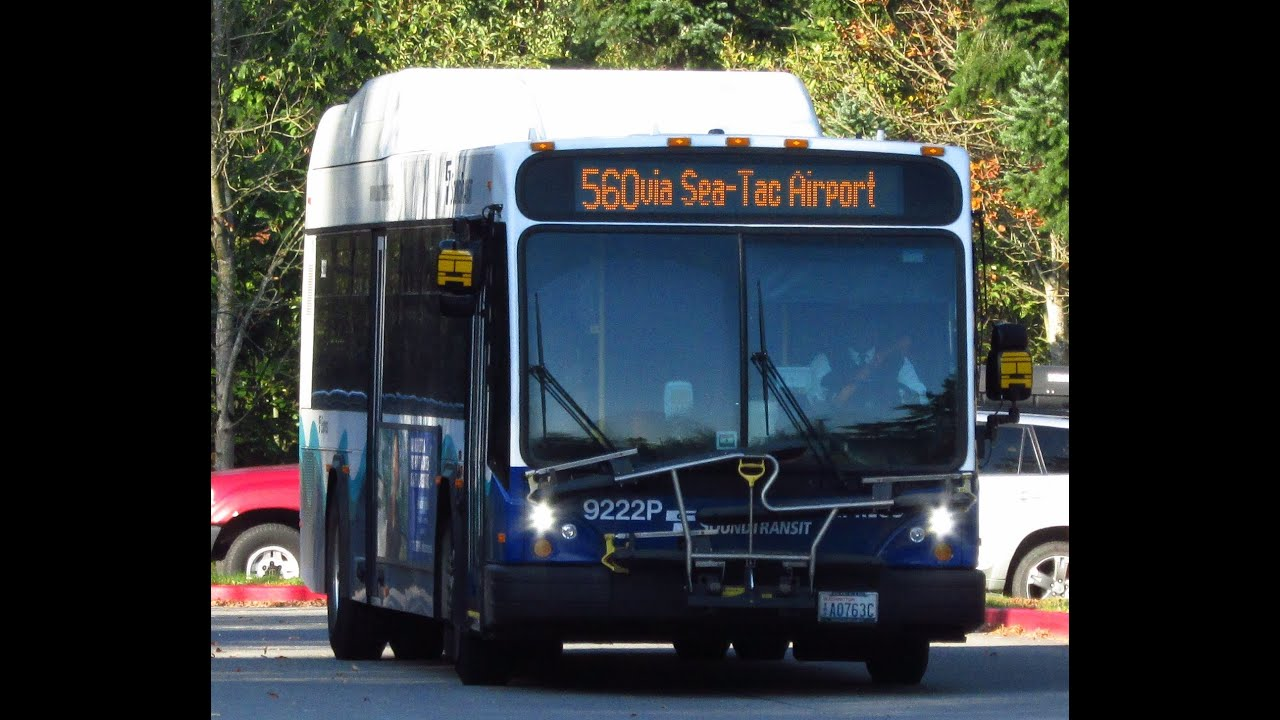 sound transit route 560 to westwood village gillig brt hev 9204p