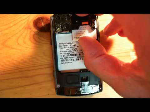Inserting simcard for Sony Ericsson X10 Mini Pro