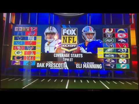Fox NFL Kickoff open December 10, 2017