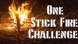 one stick fire challenge bushcraft survival skills