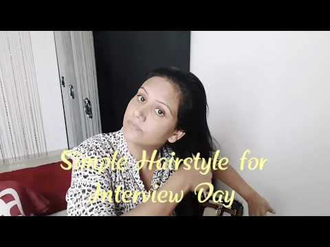 Easy Cabin Crew/Air hostess Hairstyle or Interview Day Hairstyle by Mamta Sachdeva