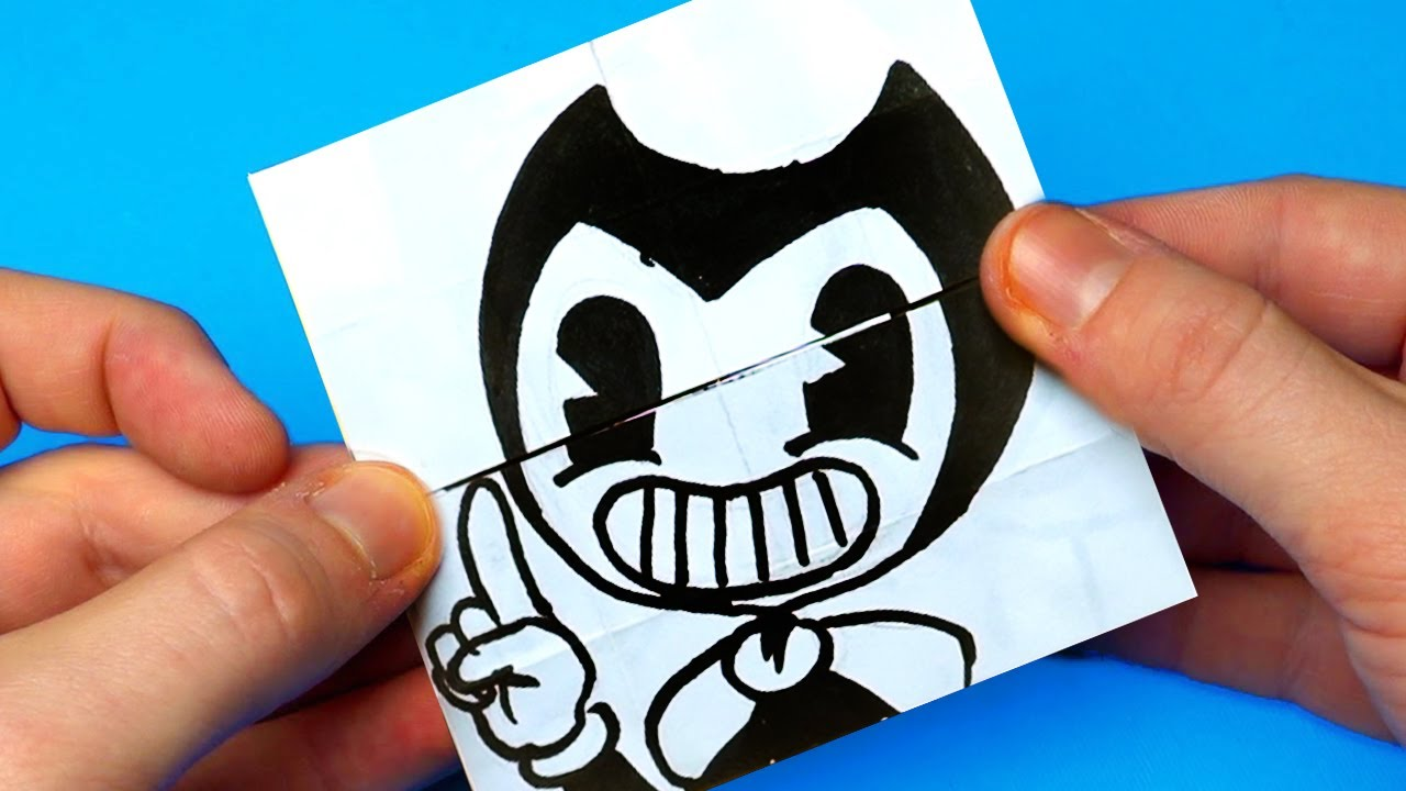 AWESOME & FUNNY BENDY AND THE INK MACHINE PAPER CRAFTS TO DO AT HOME