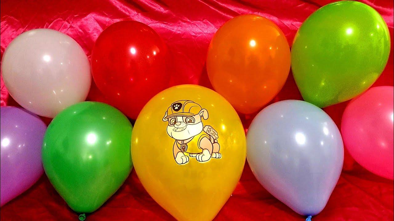 RUBBLE PAW PATROL BALLOON POPS!!!