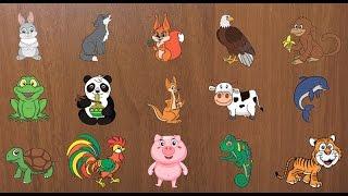 Развивающие мультики-пазлы для детей - Учим животных (2 серия)