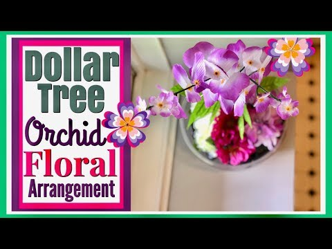 How to Make Tropical ORCHID Floral Arrangement | DOLLAR TREE DIY