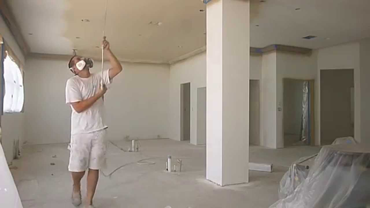 Spray Painting Interior Walls Ceiling