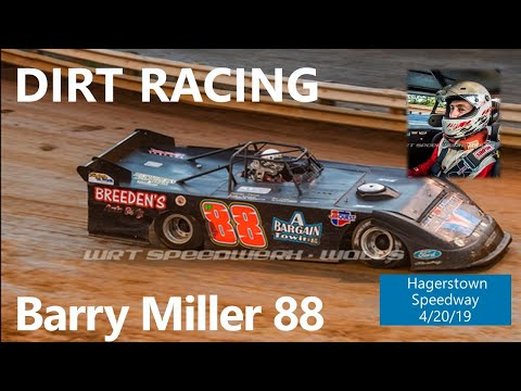 Barry Miller Hagertsown Speedway Heat Race Rear Video 4/20/19
