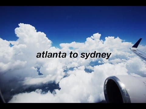 Flying from Atlanta, Georgia to Sydney, Australia!