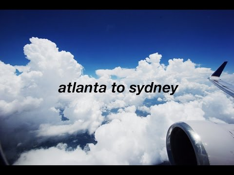 Vlog 4: Travel Vlog: Flying from Atlanta, Georgia to Sydney, Australia!