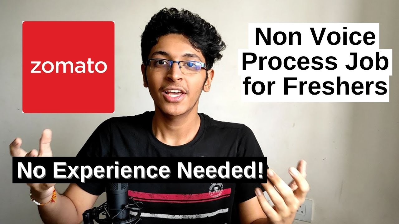 Zomato Job For Freshers 2020  | Customer Support (Non-Voice Process Job) | Work from Home Jobs 2020