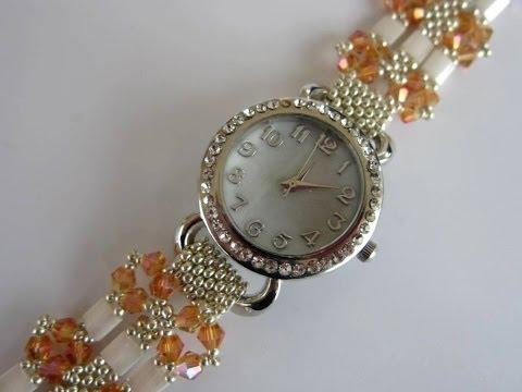 Ремешок для часов из бисера своими руками
