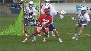 Syracuse scores 2 goals in the last 15 seconds to beat Duke