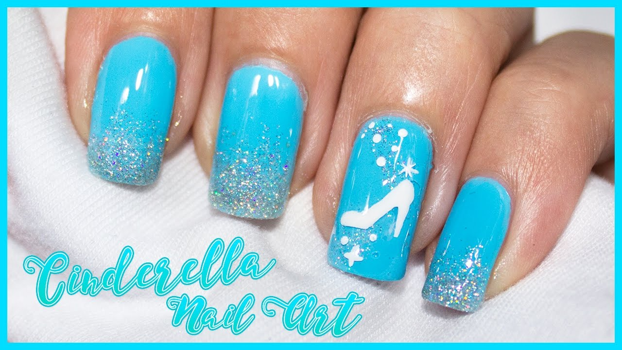 cinderella nail art disney magic