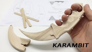 Make a KARAMBIT of CSGO from Popsicle Stick #StayHome and DIY #WithMe