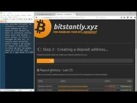 Another successful bitcoin double by bitstantly.xyz!! (NOT A SCAM!)