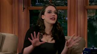 Craig Ferguson Can't Resist from Looking at Kat Denning's Cleavage