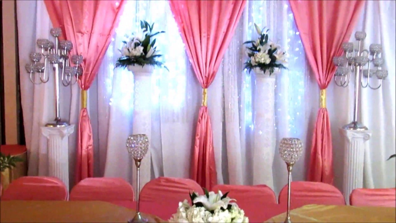Faos events decoracion coral y oro youtube - Decoraciones de bares ...