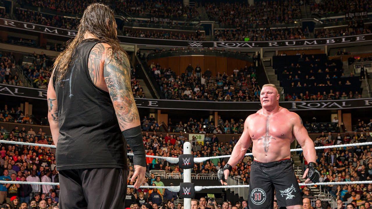 Brock Lesnar meets The Wyatt Family: Royal Rumble 2016 - YouTube