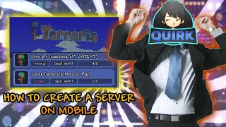 tERRARIA 1.3 MOBILE HOW TO HOST A SERVER! WITHOUT PC! ANDROID/IOS