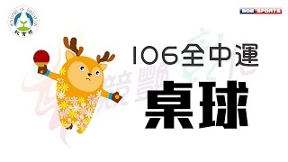 106年 競豔彰化 全中運::桌球::網路直播