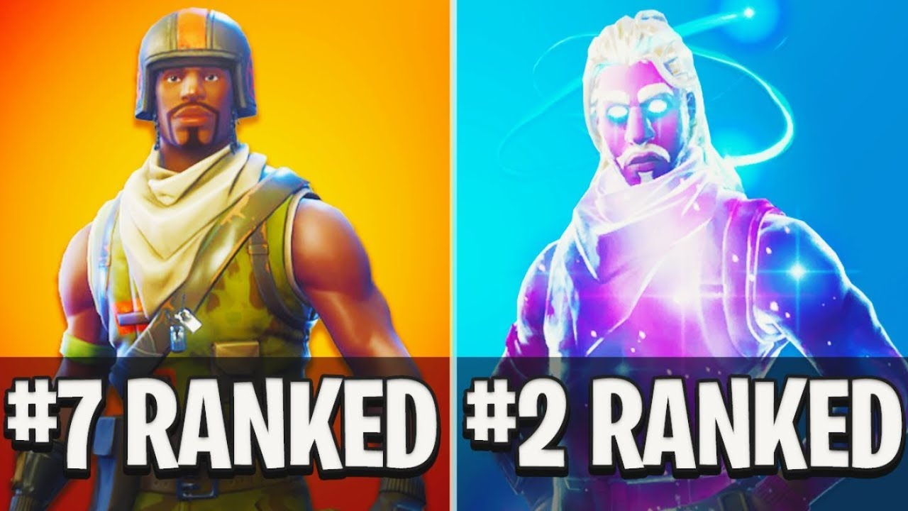 TOP 10 RAREST SKINS in Fortnite Battle Royale! - YouTube