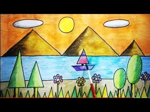 Geometric Shapes Drawing Art