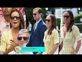 Pippa Middleton stunned with a sunny gown at Wimbledon after walking with baby Arthur