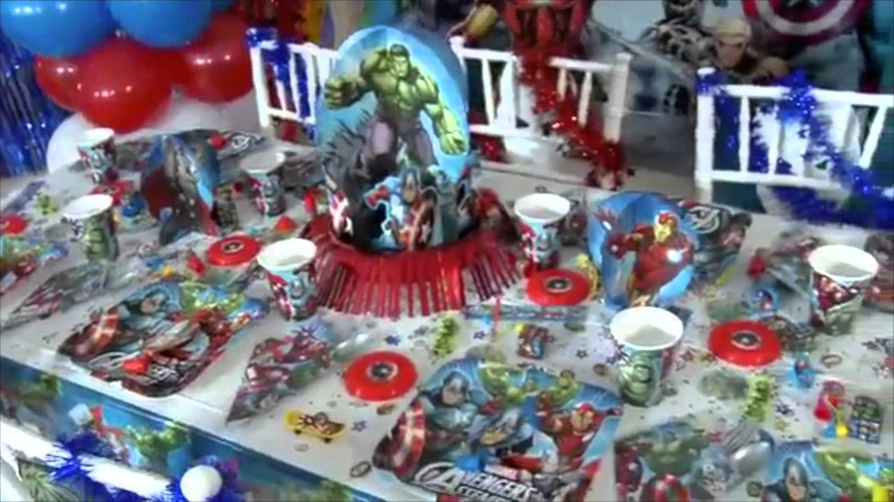 Popolare Festa a tema Avengers - YouTube OF75