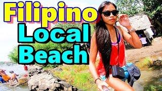 Filipino Local Beaches Mindanao Philippines