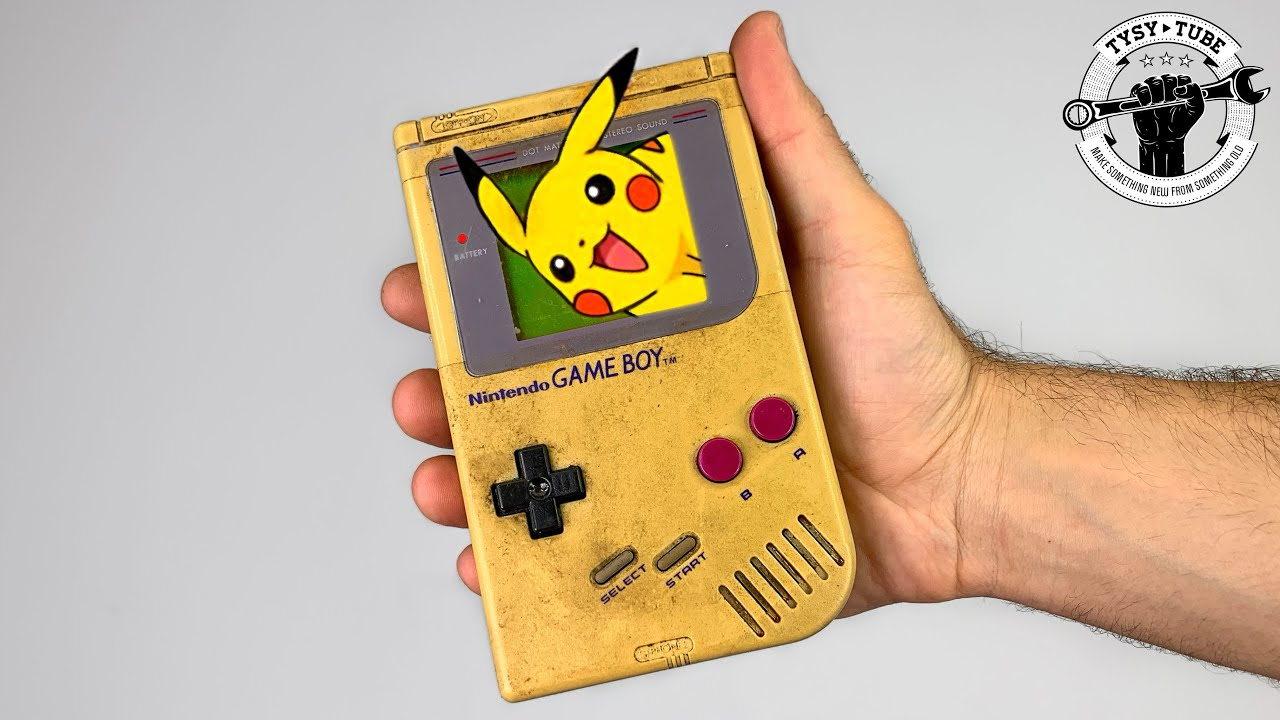 $9 Yellowed and Broken Game Boy Restoration - Iconic console